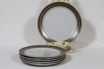 Arabia Karelia lautaset, matala, 6 kpl, suunnittelija , matala, raitakoriste