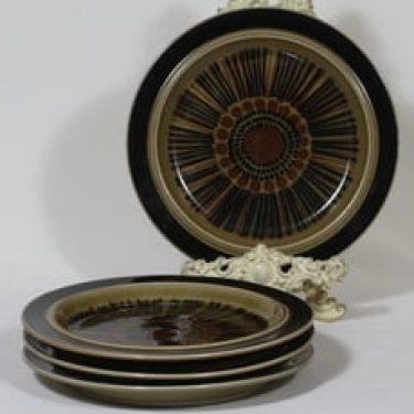 Arabia Kosmos lautaset, matala, 4 kpl, suunnittelija Gunvor Olin-Grönqvist, matala, puhalluskoriste
