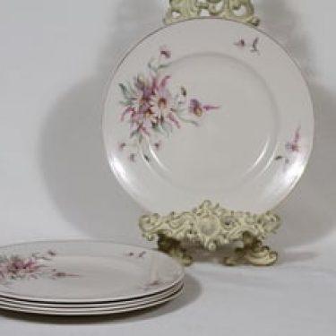 Arabia Maire lautaset, matala, 5 kpl, suunnittelija , matala, siirtokuva, kultakoriste