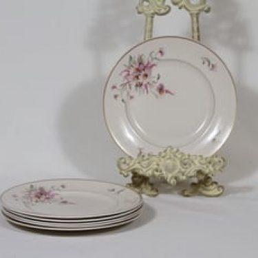 Arabia Maire lautaset, 6 kpl, suunnittelija , pieni, siirtokuva, kultakoriste
