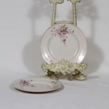 Arabia Maire lautaset, 2 kpl, suunnittelija , pieni, siirtokuva, kultakoriste