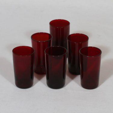 Nuutajärvi 1153 lasit, 3 cl, 6 kpl, suunnittelija Kaj Franck, 3 cl, pieni