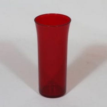 Nuutajärvi Trumpetti lasi, punainen, suunnittelija Kaj Franck,