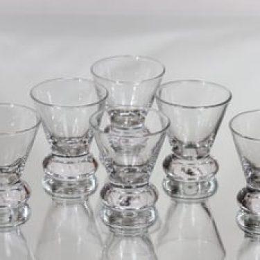 Nuutajärvi Nautica lasit, 8 cl, 6 kpl, suunnittelija Inkeri Toikka, 8 cl, pieni