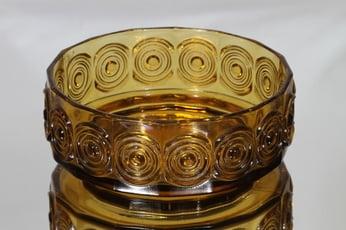 Riihimäen lasi Rengas kulho, ruskea, suunnittelija Tamara Aladin, massiivinen