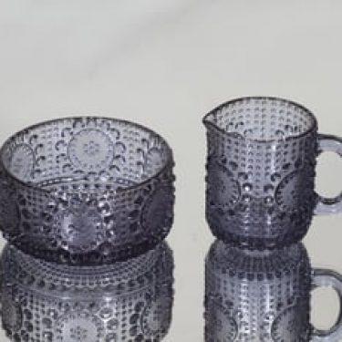 Riihimäen lasi Grapponia sokerikko ja kermakko, neodymi, suunnittelija Nanny Still,