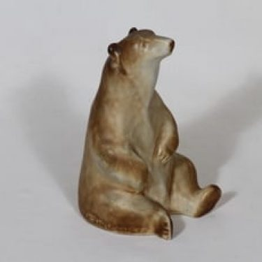 Arabia eläinfiguuri, karhu, suunnittelija Ulf Tikkanen, karhu, käsinmaalattu, signeerattu