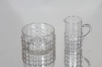 Riihimäen lasi Grappo sokerikko ja kermakko, kirkas, suunnittelija Nanny Still,