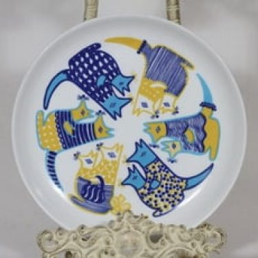 Arabia Kengu lasten lautanen, suunnittelija Gunvor Olin-Grönqvist, serikuva, retro