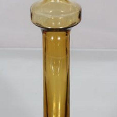 Riihimäen lasi Katedraali maljakko, amber, suunnittelija Helena Tynell,