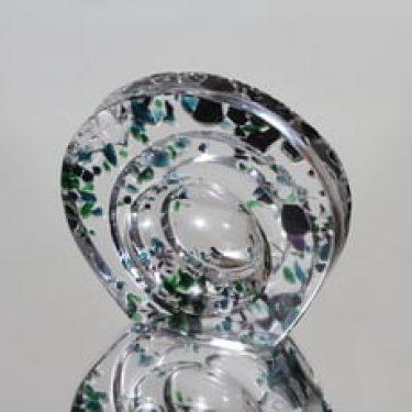 Riihimäen lasi Bora Bora taide-esine, signeerattu, suunnittelija Helena Tynell, signeerattu