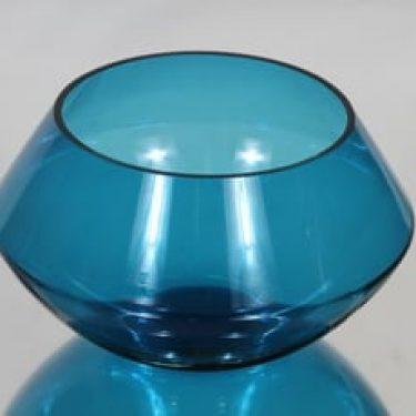 Riihimäen lasi Harlekiini salaattikulho, sininen, suunnittelija Nanny Still, pieni