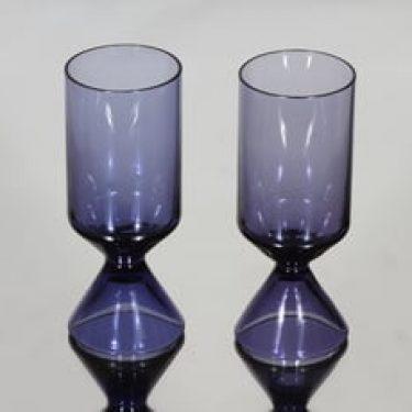 Riihimäen lasi X 1564 lasit, lila, 2 kpl, suunnittelija Tamara Aladin,