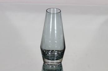 Riihimäen lasi maljakko, siniharmaa, suunnittelija Tamara Aladin, pieni