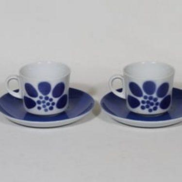 Arabia retrokuvio kahvikupit, sininen, 2 kpl, suunnittelija , puhalluskoriste, retro