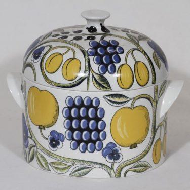Arabia Paratiisi soup bowl, designer Birger Kaipiainen, big, colorful, silk screening