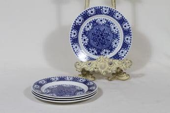 Arabia Ali leivoslautaset, sininen, 2 kpl, suunnittelija Raija Uosikkinen, kuparipainokoriste