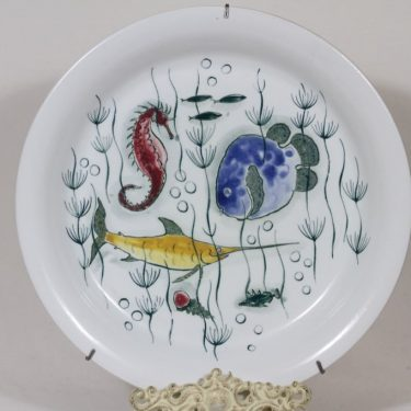 Arabia Crayfish vati, käsinmaalattu, suunnittelija Anja Juurikkala, käsinmaalattu, suuri