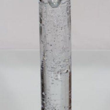 Iittala Arkipelago kynttilänjalka, kirkas, suunnittelija Timo Sarpaneva, suuri, massiivinen, pyöreä