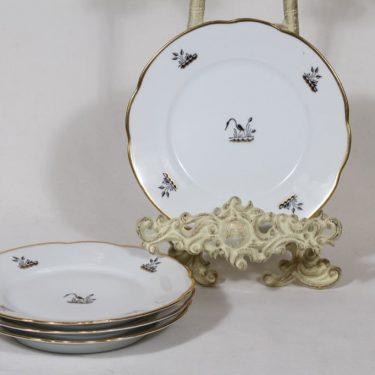Arabia Haikara lautaset, 4 kpl, suunnittelija , pieni, siirtokuva, art deco