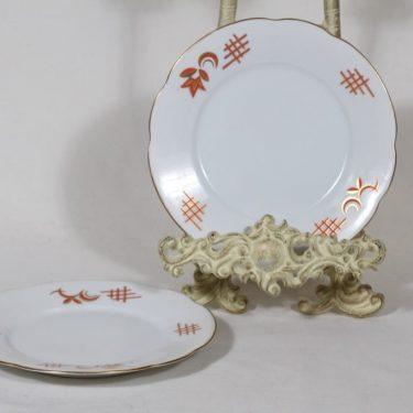Arabia koriste 4367 lautaset, 2 kpl, suunnittelija , pieni, siirtokuva, art deco