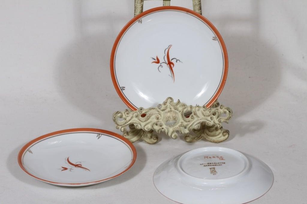 Arabia Mekka plates, small, 3 pcs, designer Greta Lisa Jäderholm-Snellman, small, art deco, signed