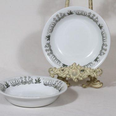 Arabia Polaris lautaset, syvä, 2 kpl, suunnittelija Raija Uosikkinen, syvä, serikuva