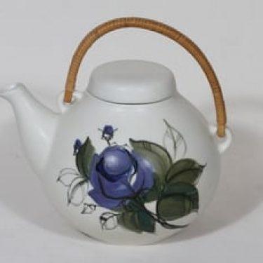 Arabia Kukka teekaadin, käsinmaalattu, suunnittelija Hilkka-Liisa Ahola, käsinmaalattu, 1.6 l, suuri