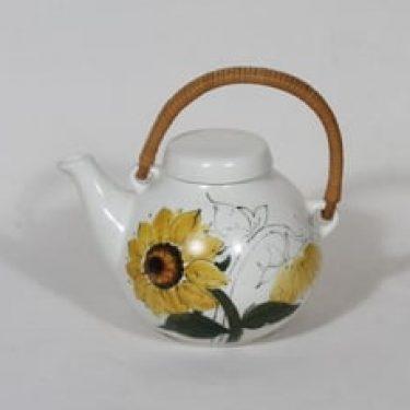 Arabia Kukka teekaadin, käsinmaalattu, suunnittelija Hilkka-Liisa Ahola, käsinmaalattu, 70 cl, pieni