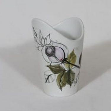 Arabia Kukka maljakko, käsinmaalattu, suunnittelija Hilkka-Liisa Ahola, käsinmaalattu, signeerattu, mattalasite
