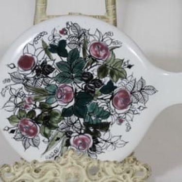Arabia Ruusu kuvastin, käsinmaalattu, suunnittelija Hilkka-Liisa Ahola, käsinmaalattu, signeerattu