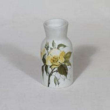 Arabia Kukka maljakko, käsinmaalattu, suunnittelija Hilkka-Liisa Ahola, käsinmaalattu, pieni, signeerattu, mattalasite