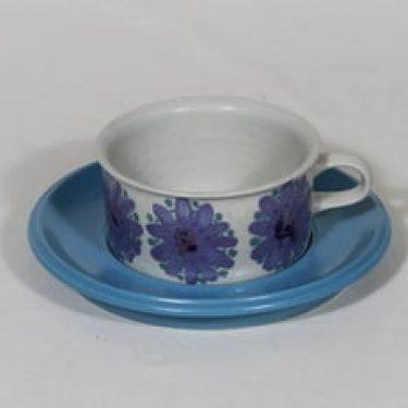 Arabia S teekuppi, suunnittelija Hilkka-Liisa Ahola, signeerattu