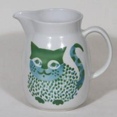 Arabia Kissa kaadin, 2 l, suunnittelija Gunvor Olin-Grönqvist, 2 l, suuri, kissa-aihe, retro