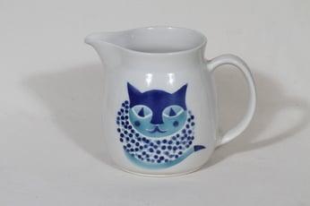 Arabia Kissa kaadin, 1.5 l, suunnittelija Gunvor Olin-Grönqvist, 1.5 l, kissa-aihe, retro