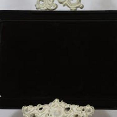 Arabia Kilta vati, musta lasite, suunnittelija Kaj Franck,