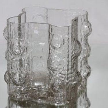 Riihimäen lasi Quadrifolia maljakko, kirkas, suunnittelija Nanny Still, suuri