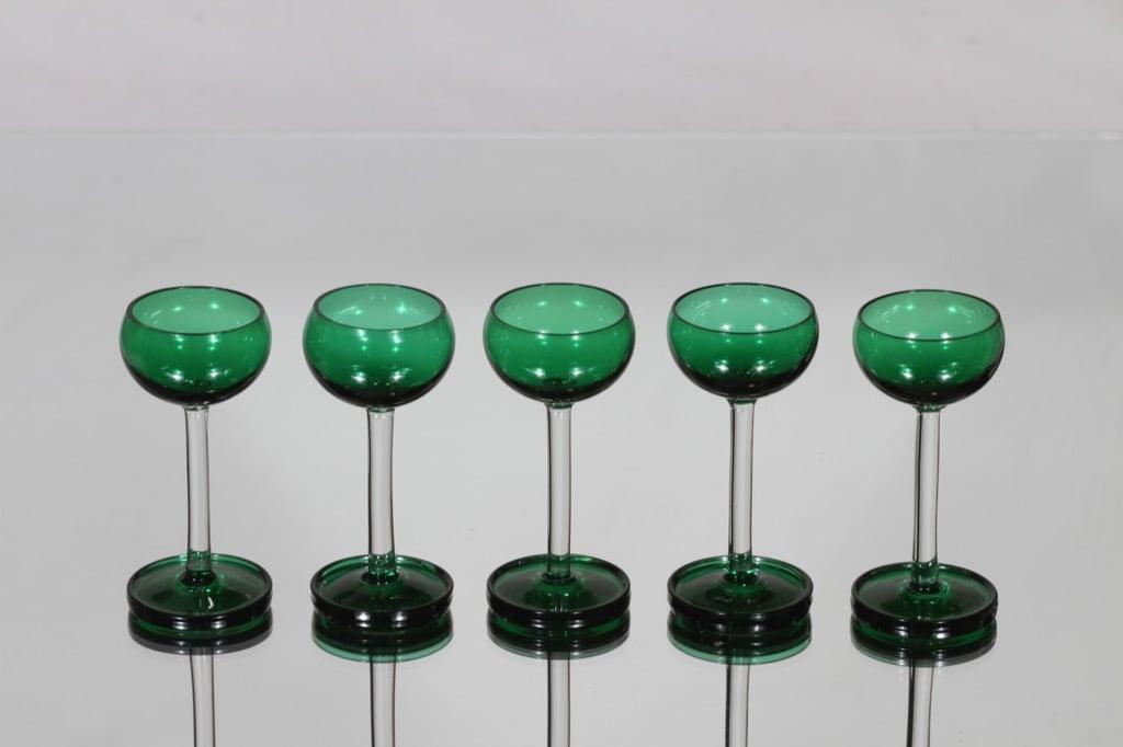 Riihimäen lasi Harlekiini liköörilasit, 3 cl, 5 kpl, suunnittelija Nanny Still, 3 cl, pieni