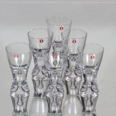 Iittala Tapio lasit, 3 cl, 6 kpl, suunnittelija Tapio Wirkkala, 3 cl, pieni