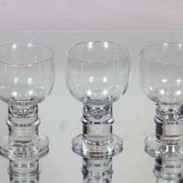 Nuutajärvi Herttua lasit, 20 cl, 3 kpl, suunnittelija Heikki Orvola, 20 cl