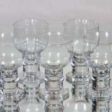 Nuutajärvi Herttua lasit, 20 cl, 5 kpl, suunnittelija Heikki Orvola, 20 cl