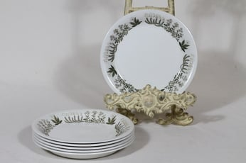 Arabia Polaris lautaset, pieni, 6 kpl, suunnittelija Raija Uosikkinen, pieni, serikuva