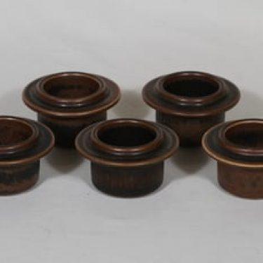 Arabia Ruska munakupit, ruskea lasite, 5 kpl, suunnittelija Ulla Procope,
