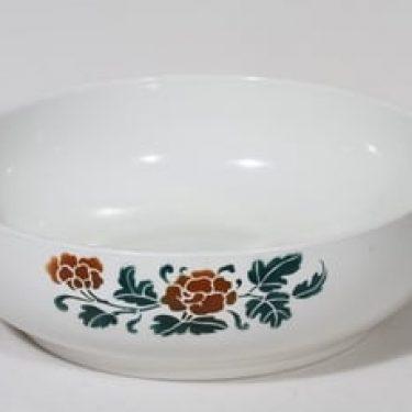 Arabia Keltaruusu pesuvati, suunnittelija , puhalluskoriste, ruusuaihe
