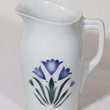 Arabia Sinikello pesukaadin, suunnittelija , puhalluskoriste, kukka-aihe