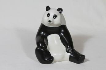 Arabia eläinfiguuri, panda, suunnittelija Lillemor Mannerheim-Klingspor, panda, suuri, signeerattu