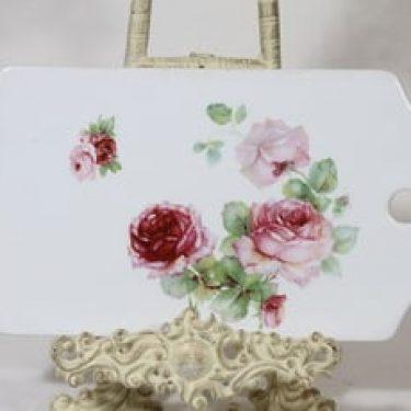 Arabia kukkakuvio talouslevy, suunnittelija , siirtokuva, ruusuaihe