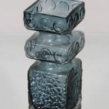 Riihimäen lasi Kehrä maljakko, siniharmaa, suunnittelija Tamara Aladin,