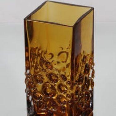 Riihimäen lasi Musica maljakko, ruskea, suunnittelija Tamara Aladin, massiivinen