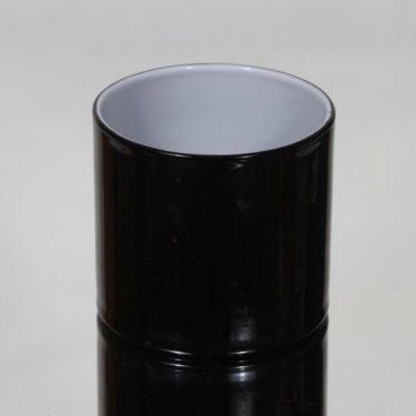 Riihimäen lasi Black and white maljakko, musta, suunnittelija Nanny Still,